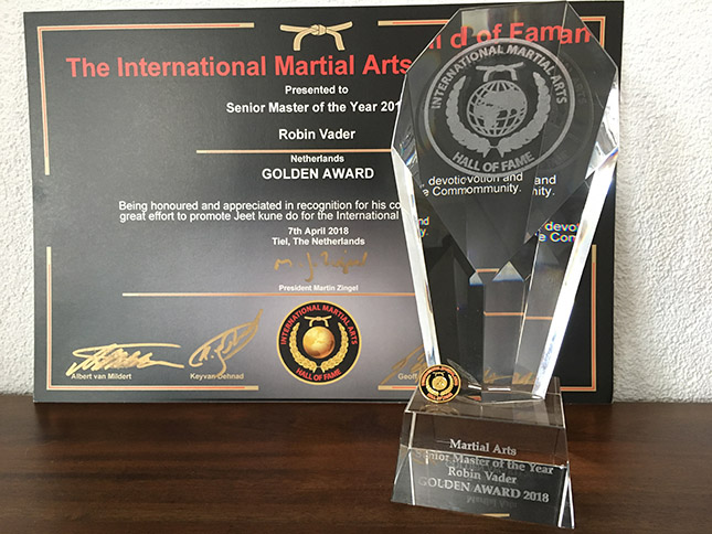 International Martial Arts Hall of Fame prijs